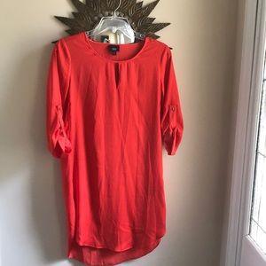Silky orange dress